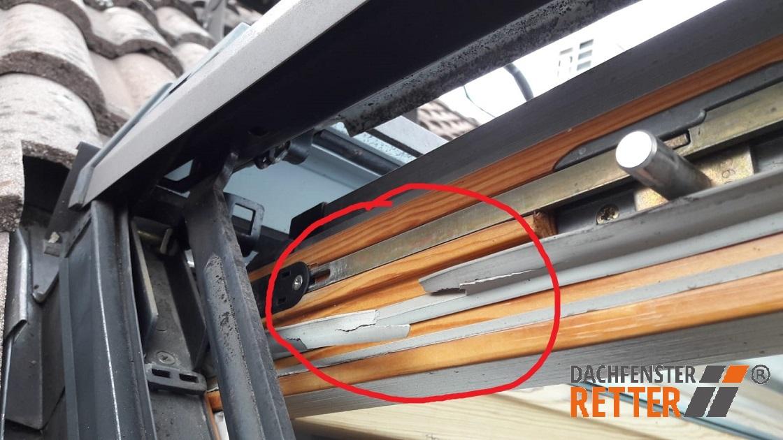 Verschlissene Dichtungen Roto Dachfenster
